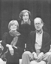 Maggie Smith, Eileen Atkins and John Standing in a scene from the 1997 theatrical production of A Delicate Balance