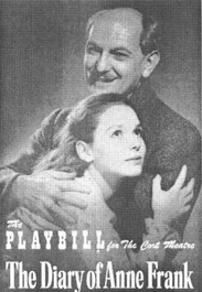 Playbill cover from the 1956 theatrical production of The Diary of Anne Frank