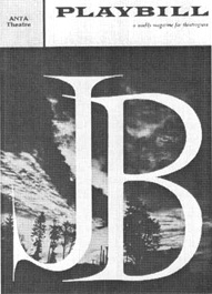 Playbill cover from the 1959 theatrical production of J. B.