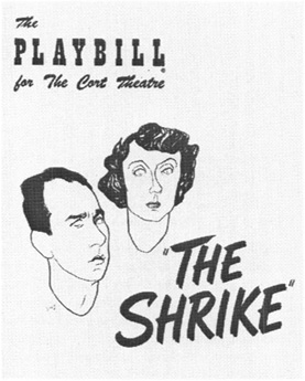 Playbill cover for The Cort Thearte from the 1952 production of The Shrike