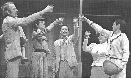A scene from the 1979 production of Cloud Nine, written by Caryl Churchill and directed by Max Stafford-Clark