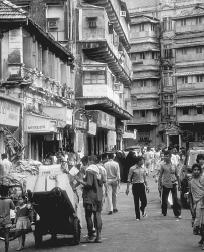 A street in Bombay, India