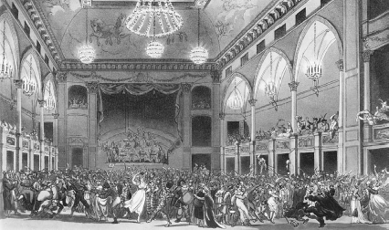 Masquerade party at the Pantheon in London, 1809  Historical Picture ArchiveCorbis