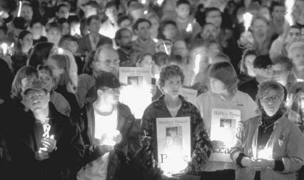 Peace vigil for Matthew Shepard  Liss SteveCorbis Sygma