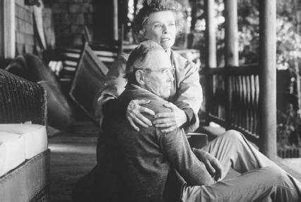 Katharine Hepburn and Henry Fonda in the 1981 film version of On Golden Pond
