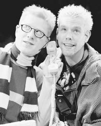 Anthony Rapp and Adam Pascal in a 1998 production of Rent