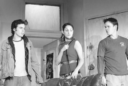Casey Affleck, Summer Phoenix, and Matt Damon in a 2002 production of This is Our Youth