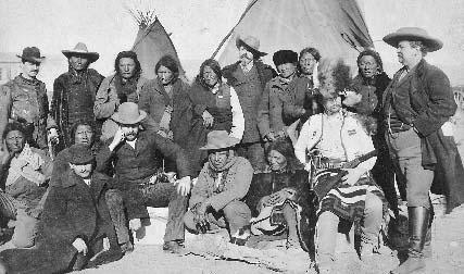 Buffalo Bill Cody shown with Native American chiefs in 1891