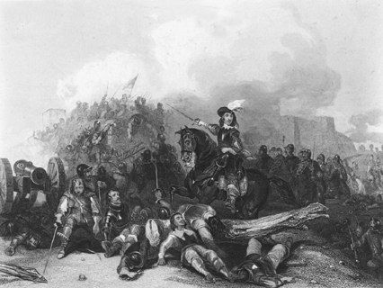 Illustration depicting the English Civil War