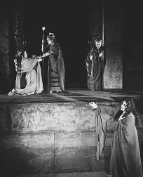 A scene from Richard Strausss 1953 opera production, Elektra