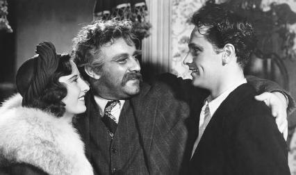 Lee J. Cobb, Barbara Stanwyck, and William Holden in the 1939 film adaptation of Golden Boy, directed by Rouben Mamoulian