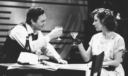 Daniel Massey and Zoe Wanamaker in a scene from a theatrical production of The Time of Your Life, directed by Howard Davies