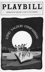 Playbill cover from the 1994 stage production of Love! Valour! Compassion!, performed at the Manhattan Theatre Club at City Center.