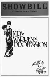 Showbill cover from the 1985 production of Mrs. Warrens Profession, performed at the Roundabout Theatre Company