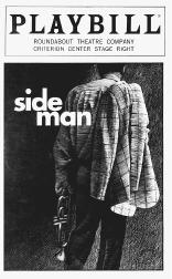 Playbill cover from the 1998 production of Side Man, performed at the Roundabout Theatre Company