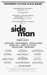 Playbill cast list from the 1998 production of Side Man, performed at the Roundabout Theatre Company