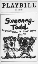 Playbill cover from the 1979 production of Sweeney Todd, performed at the Uris Theatre