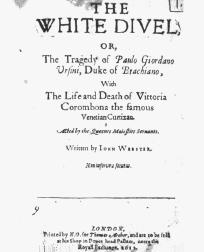 Title page from John Websters The White Devil, published in 1612