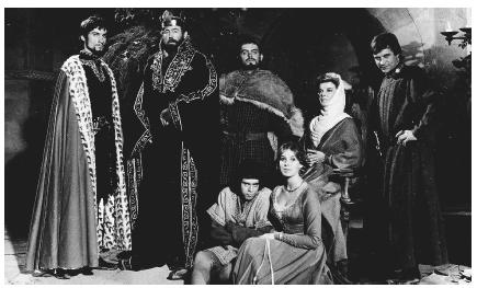 The cast from the 1968 film adaptation of The Lion in Winter