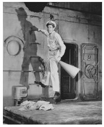 Henry Fonda in a scene from the 1948 stage production of Mister Roberts