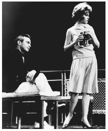 Ben Gazzarra and Jane Fonda in a 1963 stage production of Strange Interlude