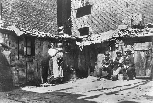 Jacob Riis photographed the poor of New York and wrote about their plight.