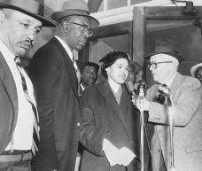 Rosa Parks with Rev. E. D. Nixon (to her left), March 1956.  BETTMANN/CORBIS