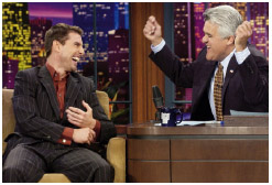 US stars, such as Tom Cruise, agree to do publicity to promote their recent releases, as here on Jay Lenos late-night talk show.