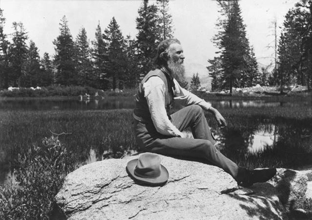 John Muir, circa 1902. Muir was a writer and conservationist best known for establishing the modern notion of national parks and as the founder of the Sierra Club.