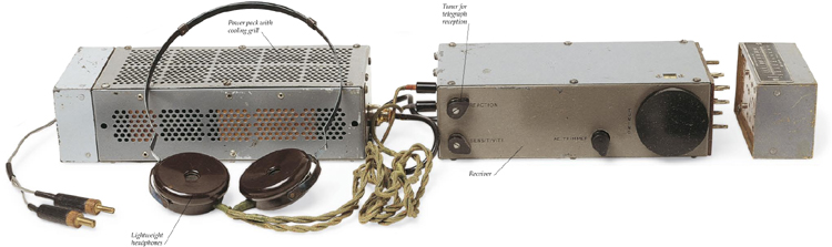 HIDDEN RADIO - This MCR 1 radio receiver, built during World War II, was used by members of the French resistance.