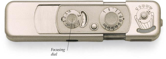 Minox camera, shown actual size