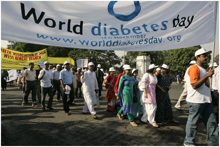 Diabetes has reached epidemic proportions in India, where more than 50 million people live with the disease. Public awareness is considered critical to minimizing the effects, as early diagnosis and treatment greatly reduce complications and