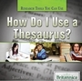How Do I Use a Thesaurus? cover