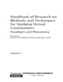 Handbook of Research on Methods and Techniques for Studying Virtual Communities: Paradigms and Phenomena cover