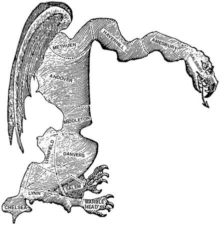 Figure 1 The original Gerrymander (1812).