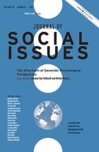 The Aftermath of Genocide: Psychological Perspectives (Special Issue: Journal of Social Issues, vol. 69, no. 1)