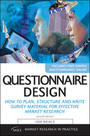Questionniare Design, ed. 2: How to Plan, Structure and Write Survey Material for Effective Market Research cover