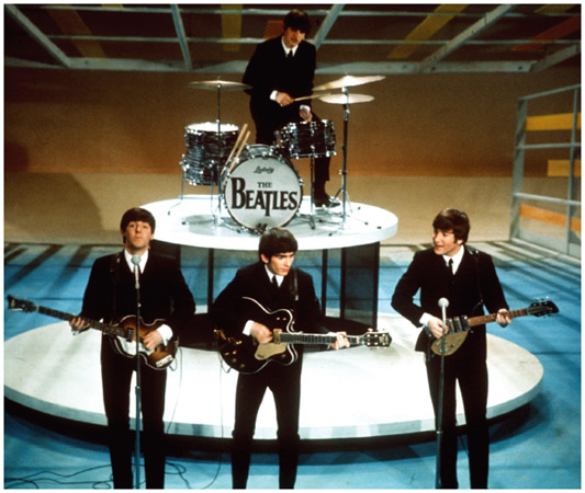 The Beatles make their first television appearance in the United States in February 1964, performing on The Ed Sullivan Show before an audience of 73 million viewers.