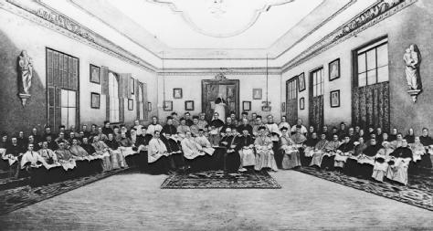 Third Plenary Council of Baltimore, 1884, from Clarkes History of the Catholic Church in the United States, from negative by D. Bendann.