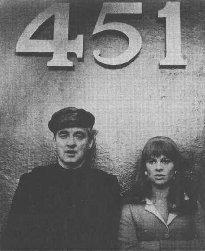 Still from the film Fahrenheit 451, starring Oskar Werner and Julie Christie, 1966.