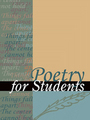 Poetry for Students, Vol. 36 cover