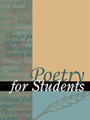 Poetry for Students, Vol. 37 cover