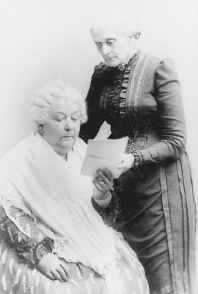 Womens rights activists Elizabeth Cady Stanton (left) and Susan B. Anthony. The Library of Congress.
