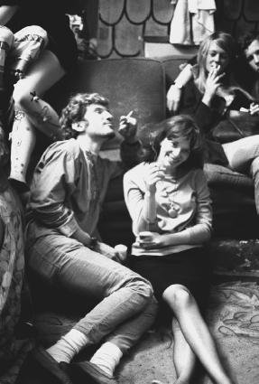 Merry Pranksters at an Acid Test Graduation in San Francisco, California, in October of 1966 experience the effects of dropping acid (LSD).  Ted Streshinsky/Corbis.