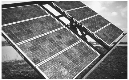 A photovoltaic system at the National Renewable Energy Laboratory in Golden, Colorado. (U.S. Department of Energy. Reproduced by permission.)
