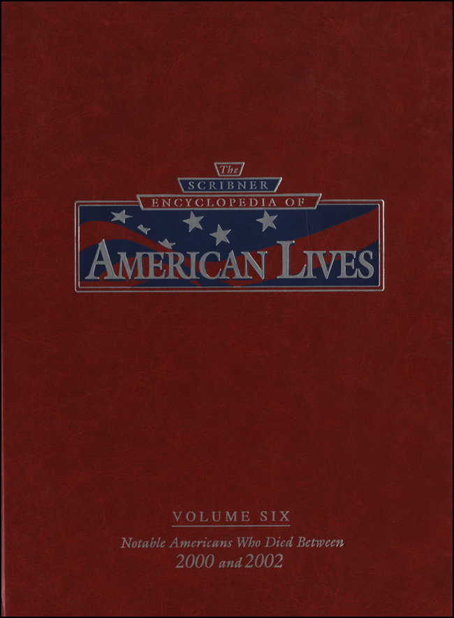 The Scribner Encyclopedia of American Lives, Vol. 1 cover