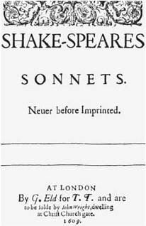 Title page of the Sonnets, 1609