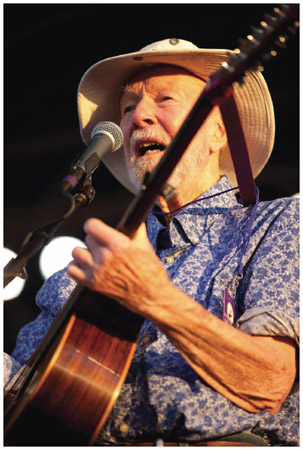 Pete Seeger. Pete Seeger performs at the 2011 Newport Folk Festival.