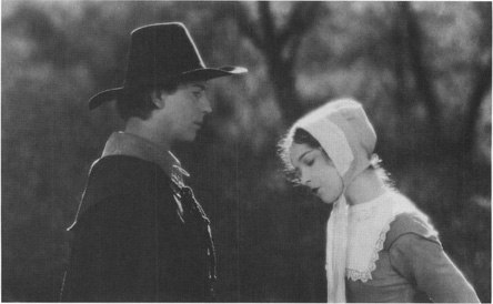 Lillian Gish and Lars Hanson as Puritans in the film version of Hawthornes The Scarlet Letter.