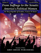 cover of From Suffrage to the Senate: America's Political Women: An Encyclopedia of Leaders, Causes & Issues. 2nd edition.
